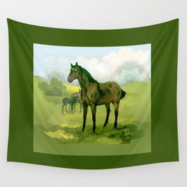 Sound Reason (CAN) - Thoroughbred Stallion Wall Tapestry