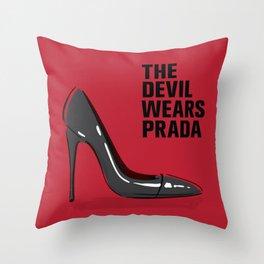 The Devil in Heels Throw Pillow