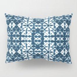 Tie dye, Shibori, indigo, chevron print Pillow Sham