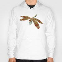 dragonfly Hoodies featuring Dragonfly by Tim Jeffs Art