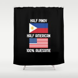 Filipino American Shirt Shower Curtain