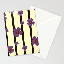Flowers with stripes, women Stationery Cards