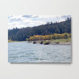 Fall Colors and a River Metal Print