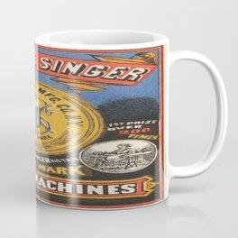 Vintage poster - Singer Sewing Machine Coffee Mug