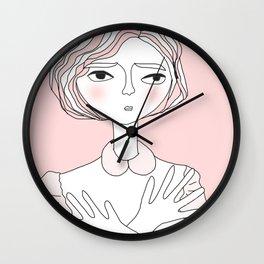 Wondering Lady Wall Clock