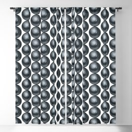Black pearls background Blackout Curtain