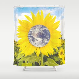The Earth Flower-Sunflowers Shower Curtain