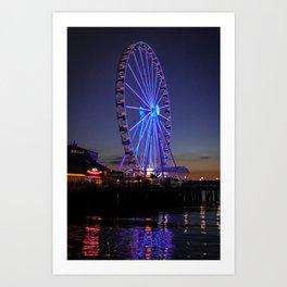 Great Wheel at Pier 57 Art Print
