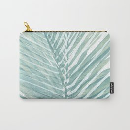 Abstract Palm Leaves | Mint Green Carry-All Pouch