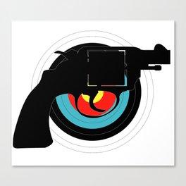 Hand Gun Target Canvas Print