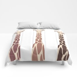 Triple Giraffes Comforters