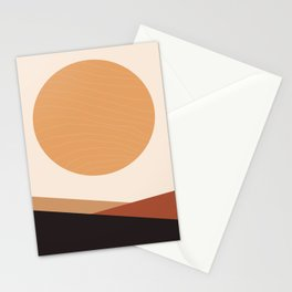 Sun and Mountains Stationery Cards
