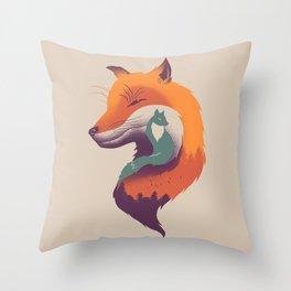 Foxy Breeze Throw Pillow