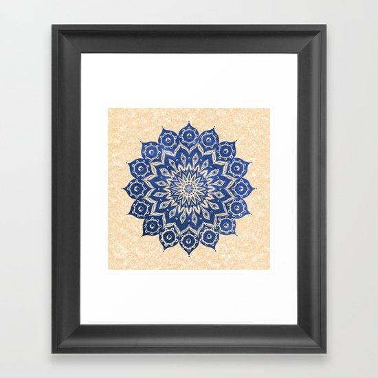 ókshirahm sky mandala Framed Art Print