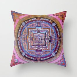 Kalachakra Sera - Mandala Throw Pillow