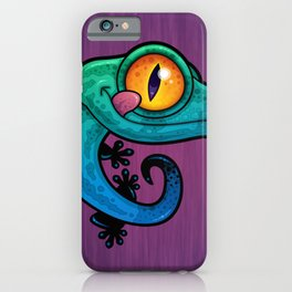 Colorful Gecko iPhone Case