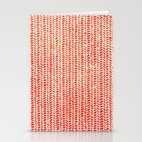 fabric Stationery Cards featuring Stockinette Orange by Elisa Sandoval