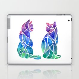 Cubism Cat Besties Laptop & iPad Skin