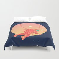 astronaut Duvet Covers featuring Astronaut by chyworks