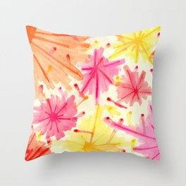 The Fireworks III Throw Pillow