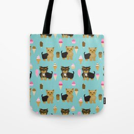 Yorkie ice cream gifts yorkshire terrier dog lover pet friendly patterns minty Tote Bag