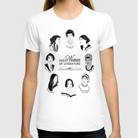 literature T-shirts featuring Great Women of Literature by geeksweetie