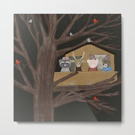 the little treehouse Metal Print