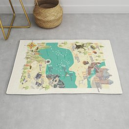Princess Bride Discovery Map Rug