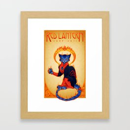 Le Chat Rogue Framed Art Print