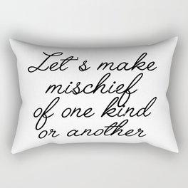 let's make mischief Rectangular Pillow