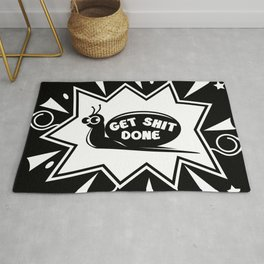 Get Shit Done Snail Rug