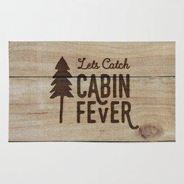 Lets Catch Cabin Fever Rug