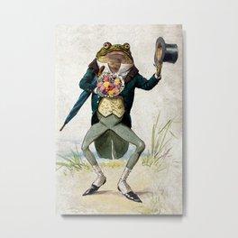 Gentleman Frog by George Hope Tait Metal Print