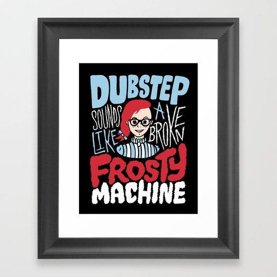 Frosty Dubstep Framed Art Print