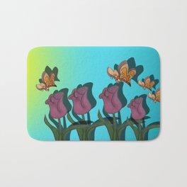 Kiss The Tulips Bath Mat