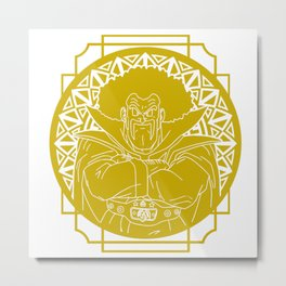 Stained glass - Dragonball - Hercule Metal Print