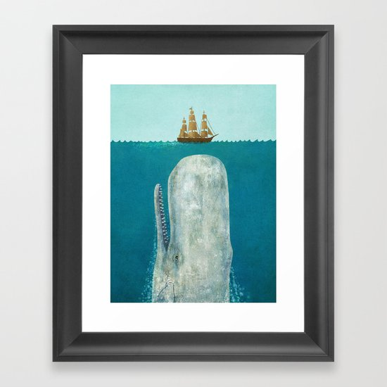 The Whale Framed Art Print