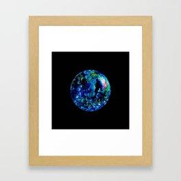 Marble Sea Framed Art Print