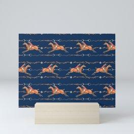 HORSE AND RIDER Mini Art Print