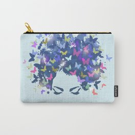 Woman with the hair made of butterflies Carry-All Pouch