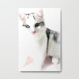 Cloud Cat Metal Print