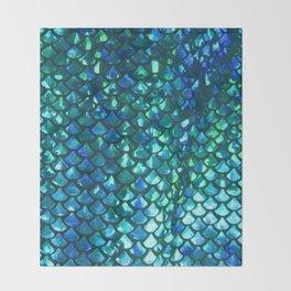 Mermaid Scales Throw Blanket