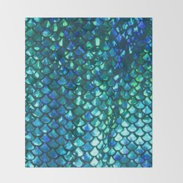 Mermaid Scales Throw Blanket