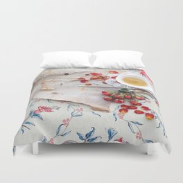 Tea with Roses Duvet Cover