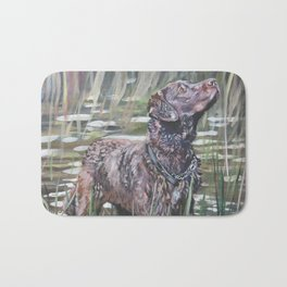 the Chesapeake Bay Retriever dog art from an original painting by L.A.Shepard Bath Mat