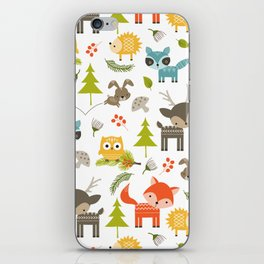 Woodland Animals iPhone Skin