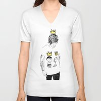 prince V-neck T-shirts featuring prince by otp-hedgefrog