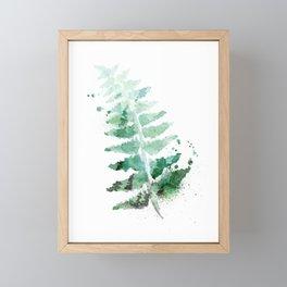 Watercolor Fern Leaf Abstract Framed Mini Art Print