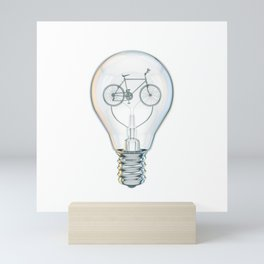 Light Bicycle Bulb Mini Art Print