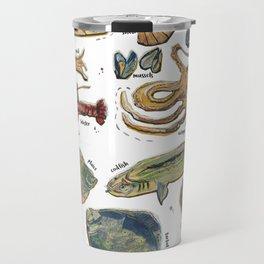fishes and seafood Travel Mug